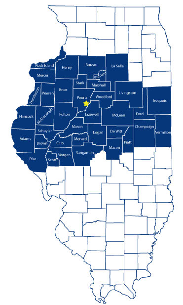 Counties Served - Fleming Law Office in Central Illinois